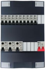 1-fase Schneider groepenkast met 10 Emat installatieautomaten met 6 modules vrij voor extra opties