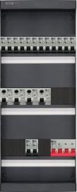 3-fase groepenkast met 14 installatieautomaten en met 10 modules vrij voor extra opties (volgens nieuwe NEN1010 norm)