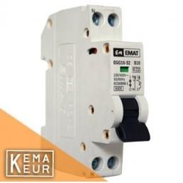 Emat installatieautomaat 1P+N C  6A