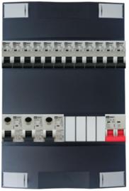 1-fase Schneider groepenkast met 12 Emat installatieautomaten met 4 modules vrij voor extra opties
