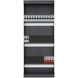 3-fase groepenkast met 14 aardlekautomaten en met 18 modules vrij voor extra opties (volgens nieuwe NEN1010 norm)