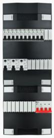 3-fase Schneider groepenkast met 10 installatieautomaten en met 16 modules vrij voor extra opties (volgens nieuwe NEN1010 norm)