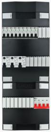 3-fase Schneider groepenkast met 9 installatieautomaten en met 17 modules vrij voor extra opties (volgens nieuwe NEN1010 norm)