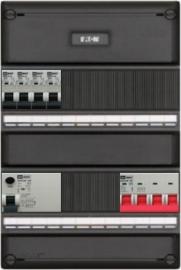 3-fase groepenkast met 4 installatieautomaten met 12 modules voor extra opties