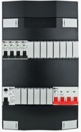 3-fase Schneider groepenkast met 4 installatieautomaten met 14 modules vrij voor extra opties (volgens nieuwe NEN1010 norm)