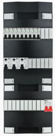 1-fase groepenkast met 9 installatieautomaten met 19 modules vrij voor extra opties