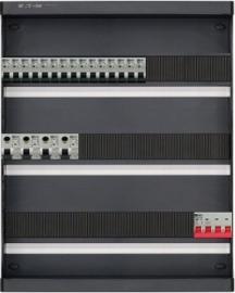 3-fase groepenkast met 15 installatieautomaten en met 45 modules vrij voor extra opties (volgens nieuwe NEN1010 norm)