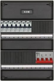 3-fase groepenkast met 7 aardlekautomaten met 13 modules vrij voor extra opties