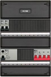3-fase groepenkast met 2 installatieautomaten met 14 modules voor extra opties