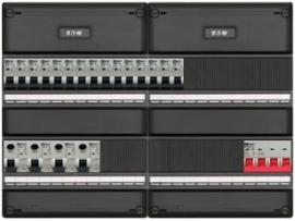 3-fase groepenkast met 15 installatieautomaten en met 21 modules vrij voor extra opties (volgens nieuwe NEN1010 norm)