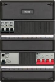 3-fase groepenkast met 3 installatieautomaten met 13 modules voor extra opties