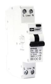 Emat aardlekautomaat 1P+N C 16A 300mA