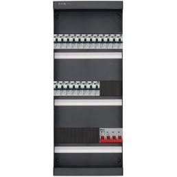 3-fase groepenkast met 20 aardlekautomaten en met 12 modules vrij voor extra opties (volgens nieuwe NEN1010 norm)
