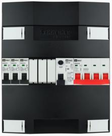 3-fase Schneider groepenkast met 3 installatieautomaten met 3 modules vrij voor extra opties (volgens nieuwe NEN1010 norm)