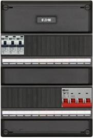 3-fase groepenkast met 3 aardlekautomaten met 17 modules vrij voor extra opties