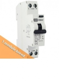 Emat aardlekautomaat  1P+N B  32A  30mA