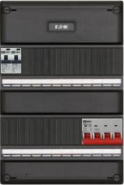 3-fase groepenkast met 6 aardlekautomaten met 18 modules vrij voor extra optie