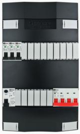 3-fase Schneider groepenkast met 3 installatieautomaten met 15 modules vrij voor extra opties (volgens nieuwe NEN1010 norm)