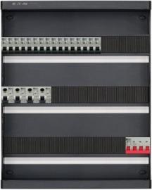 3-fase groepenkast met 16 installatieautomaten en met 44 modules vrij voor extra opties (volgens nieuwe NEN1010 norm)