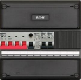 3-fase groepenkast met 2 installatieautomaten met 4 modules vrij voor extra opties (volgens nieuwe NEN1010 norm)