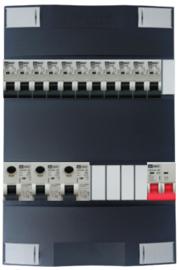 1-fase Schneider groepenkast met 11 Emat installatieautomaten met 5 modules vrij voor extra opties