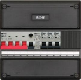 3-fase groepenkast met 3 installatieautomaten met 3 modules vrij voor extra opties (volgens nieuwe NEN1010 norm)