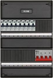 3-fase groepenkast met 8 aardlekautomaten met 12 modules vrij voor extra optie