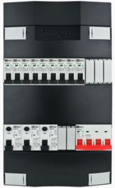 3-fase Schneider groepenkast met 9 installatieautomaten met 5 modules vrij voor extra opties (volgens nieuwe NEN1010 norm)