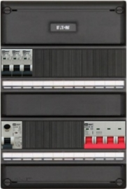 3-fase groepenkast met 3 installatieautomaten met 15 modules vrij voor extra opties (volgens nieuwe NEN1010 norm)