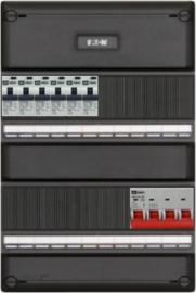 3-fase groepenkast met 6 aardlekautomaten met 14 modules vrij voor extra opties