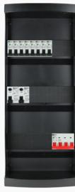 3-fase groepenkast met 8 installatieautomaten met 20 modules vrij voor extra opties (volgens nieuwe NEN1010 norm)