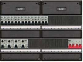 3-fase groepenkast met 14 installatieautomaten en met 22 modules vrij voor extra opties (volgens nieuwe NEN1010 norm)