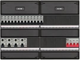 3-fase groepenkast met 13 installatieautomaten en met 23 modules vrij voor extra opties (volgens nieuwe NEN1010 norm)