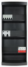 3-fase groepenkast met 5 installatieautomaten en met 23 modules vrij voor extra opties (volgens nieuwe NEN1010 norm)