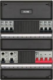 3-fase groepenkast met 6 installatieautomaten en met 10 modules vrij voor extra opties (volgens nieuwe NEN1010 norm)