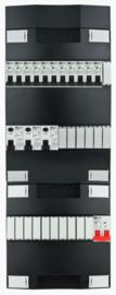 1-fase groepenkast met 11 installatieautomaten met 17 modules vrij voor extra opties