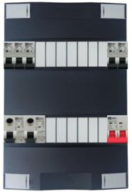 1-fase Schneider groepenkast met 5 Emat installatieautomaten met 13 modules vrij voor extra opties
