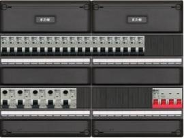 3-fase groepenkast met 19 installatieautomaten en met 15 modules vrij voor extra opties (volgens nieuwe NEN1010 norm)