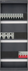 3-fase groepenkast met 11 installatieautomaten en met 15 modules vrij voor extra opties (volgens nieuwe NEN1010 norm)