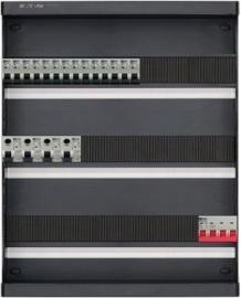 3-fase groepenkast met 14 installatieautomaten en met 46 modules vrij voor extra opties (volgens nieuwe NEN1010 norm)