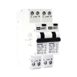 Emat fornuisgroep aardlekautomaat 2P+2N B 16A 30mA