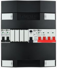 3-fase Schneider groepenkast met 2 installatieautomaten met 4 modules vrij voor extra opties (volgens nieuwe NEN1010 norm)