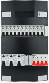 3-fase Schneider groepenkast met 11 installatieautomaten met 3 modules vrij voor extra opties (volgens nieuwe NEN1010 norm)