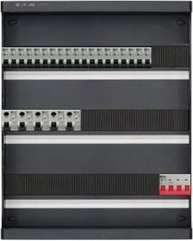 3-fase groepenkast met 19 installatieautomaten en met 39 modules vrij voor extra opties (volgens nieuwe NEN1010 norm)