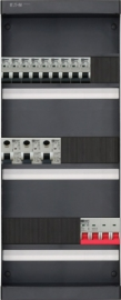 3-fase groepenkast met 9 installatieautomaten en met 17 modules vrij voor extra opties (volgens nieuwe NEN1010 norm)