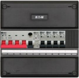 3-fase groepenkast met 4 installatieautomaten met 2 modules vrij voor extra opties (volgens nieuwe NEN1010 norm)