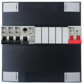 1-fase Schneider groepenkast met 3 Emat installatieautomaten met 5 modules vrij voor extra opties