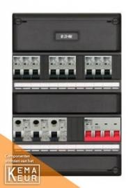 3-fase groepenkast met 9 installatieautomaten met 5 modules vrij voor extra opties (volgens nieuwe NEN1010 norm)