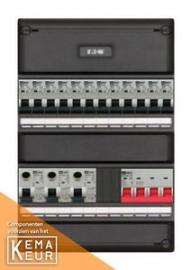 3-fase groepenkast met 12 installatieautomaten met 2 modules vrij voor extra opties (volgens nieuwe NEN1010 norm)