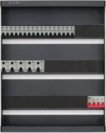 3-fase groepenkast met 17 installatieautomaten en met 41 modules vrij voor extra opties (volgens nieuwe NEN1010 norm)